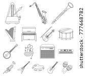 musical instrument outline... | Shutterstock .eps vector #777668782