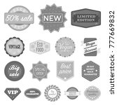different label monochrome... | Shutterstock .eps vector #777669832