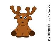 cute baby reindeer   | Shutterstock .eps vector #777671302