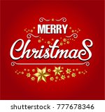 merry christmas card | Shutterstock .eps vector #777678346