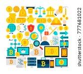 flat design vector illustration.... | Shutterstock .eps vector #777681022