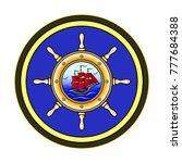 ship wheel logo design vector...   Shutterstock .eps vector #777684388