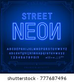bright neon alphabet letters ... | Shutterstock .eps vector #777687496