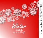 red winter background with... | Shutterstock .eps vector #777687802
