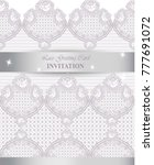 lace card vector. delicate... | Shutterstock .eps vector #777691072