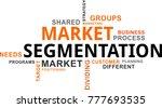 a word cloud of market... | Shutterstock .eps vector #777693535