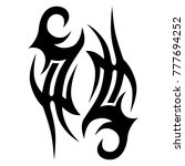 tattoo tribal vector design.... | Shutterstock .eps vector #777694252