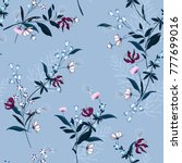 beautiful floral pattern in the ... | Shutterstock .eps vector #777699016