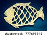 Golden Fish. Element Of Wooden...