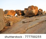 landscape with stones in... | Shutterstock . vector #777700255