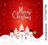 merry christmas and happy new... | Shutterstock .eps vector #777700798