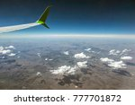 great view from the aircraft... | Shutterstock . vector #777701872
