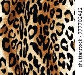 animal skin leopard pattern | Shutterstock .eps vector #777702412