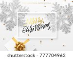 christmas background with gifts ...   Shutterstock . vector #777704962