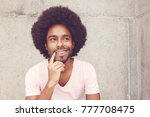 thinking african american... | Shutterstock . vector #777708475
