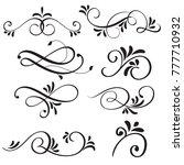 art calligraphy flourish of... | Shutterstock . vector #777710932