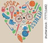 hand drawn doodle set of...   Shutterstock .eps vector #777711682