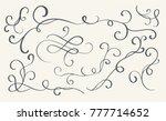set of art calligraphy flourish ... | Shutterstock . vector #777714652