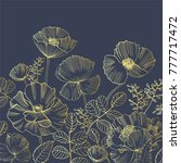 elegant natural square backdrop ... | Shutterstock .eps vector #777717472