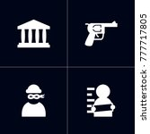 set of 4 criminal icons set... | Shutterstock .eps vector #777717805