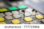 miniature people   cameraman ... | Shutterstock . vector #777719806