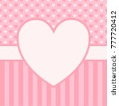 valentine's day greeting card.... | Shutterstock .eps vector #777720412
