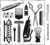 hairdressers tools and... | Shutterstock .eps vector #777721318