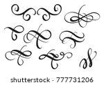 set of vintage decorative... | Shutterstock . vector #777731206