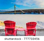 pair of red comfortable... | Shutterstock . vector #777733456