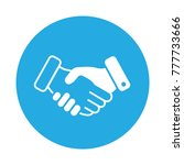 business handshare icon. done... | Shutterstock .eps vector #777733666