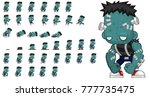zombie character animation for... | Shutterstock .eps vector #777735475