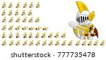 knight game character animation ... | Shutterstock .eps vector #777735478