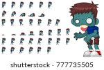 zombie character animation for... | Shutterstock .eps vector #777735505