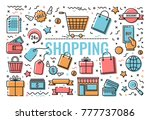 set of vector icons  symbols on ... | Shutterstock .eps vector #777737086