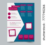 blue and pink business flyer.... | Shutterstock .eps vector #777740266
