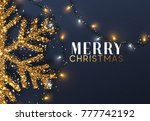christmas background with... | Shutterstock . vector #777742192