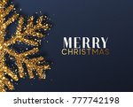 christmas background with... | Shutterstock . vector #777742198