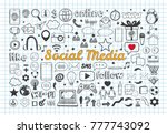 social media icons set 7 | Shutterstock .eps vector #777743092