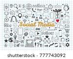 social media icons set. vector... | Shutterstock .eps vector #777743092
