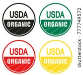 USDA organic shield sign set
