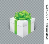 vector realistic gift box with... | Shutterstock .eps vector #777749596