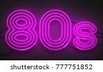 disco dance 80s neon sign... | Shutterstock . vector #777751852