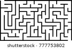 labyrinth of medium complexity. ... | Shutterstock .eps vector #777753802