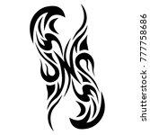 tattoo tribal vector design.... | Shutterstock .eps vector #777758686