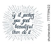 "illustration with quote "" if it ... 