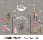 valentine's day vector greeting ... | Shutterstock .eps vector #777761842