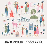 valentine's day vector greeting ... | Shutterstock .eps vector #777761845