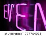 neon sign design element for... | Shutterstock . vector #777764035