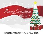 merry christmas landscape... | Shutterstock .eps vector #777769105