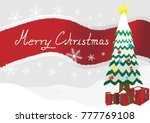 merry christmas landscape... | Shutterstock . vector #777769108